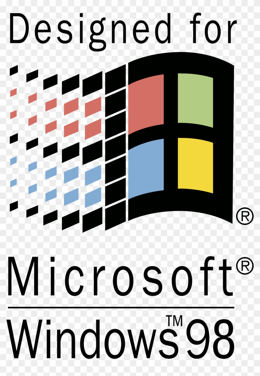 Designed For Microsoft Windows 98 Logo Png Transparent