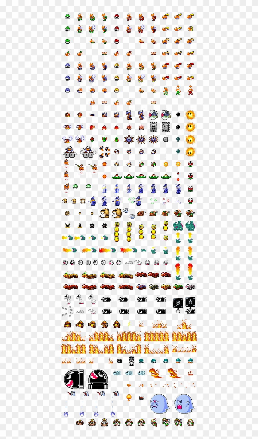 Clipart Free Stock Super Mario World Sprite Sheets - Sprites