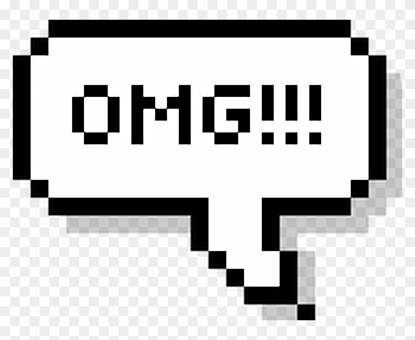 Png Pixel Balloon Omg Meu Deus Tumblr Collage - Pixel Text