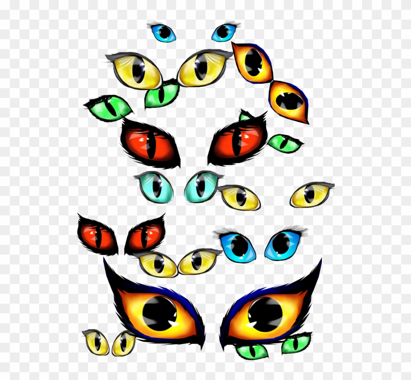 Png Royalty Free Download Spooky Halloween Free Download Halloween Cat Eyes Clipart Transparent Png 550x733 26982 Pngfind