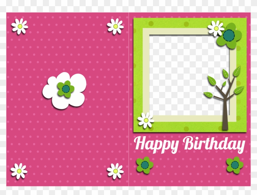 Birthday Cards Greeting With Photo Insert