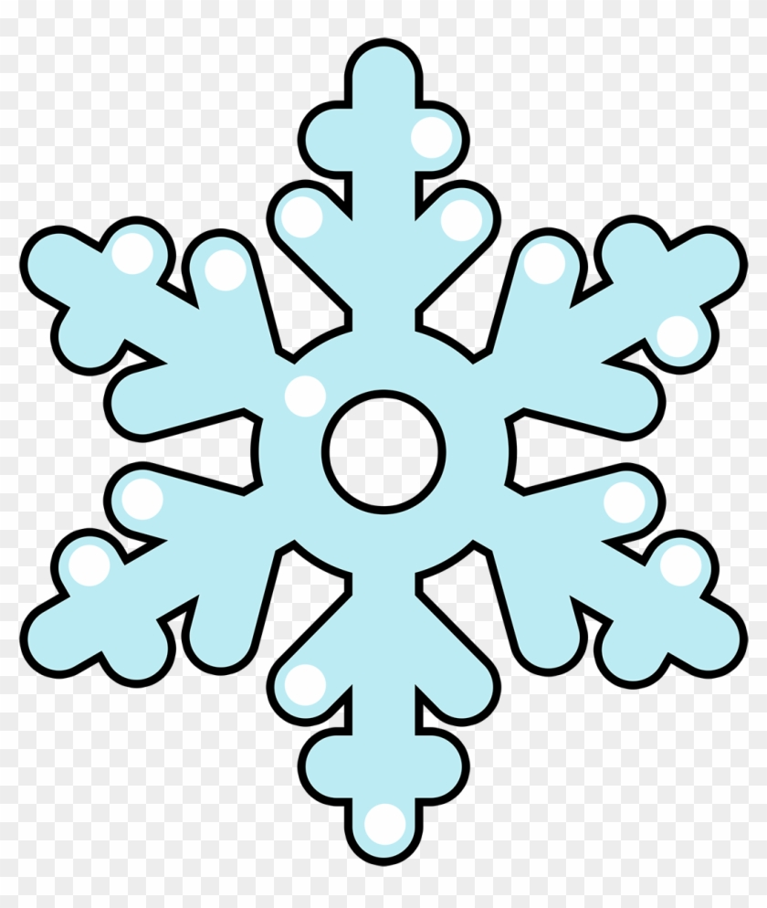 Cartoon Clipart Snowflake - Easy Snowflake Coloring Pages, HD Png