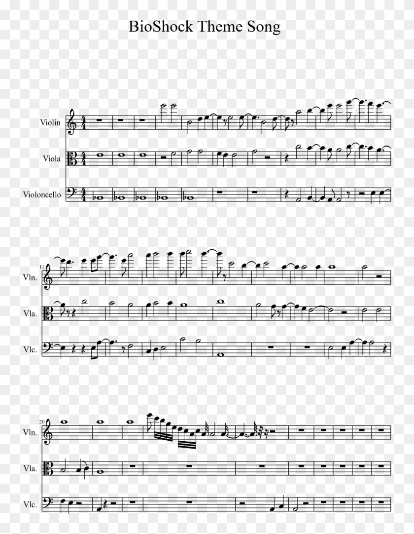 Bioshock Theme Song Sheet Music 1 Of 2 Pages - Super Mario Bros