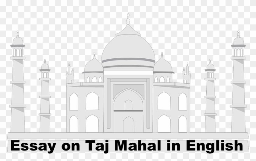 Essay On Taj Mahal In English In English Sketsa Gambar Taj