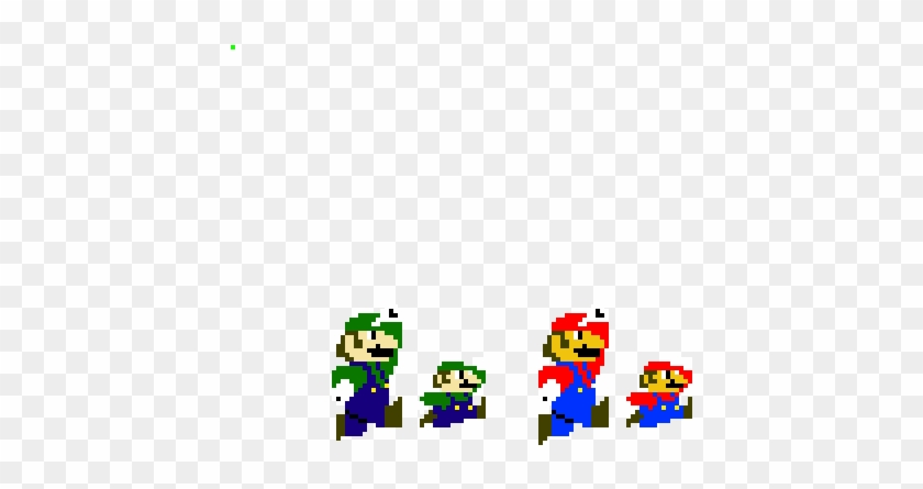 Mario And Luigi Jumping Sprites Cartoon Hd Png Download