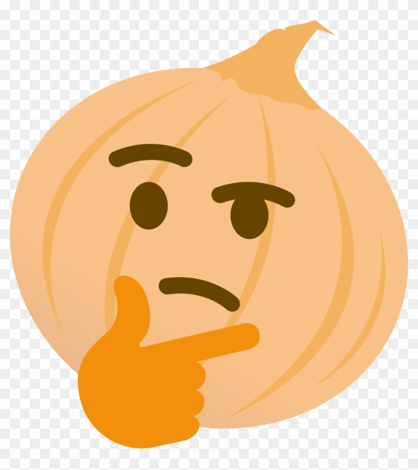 Onion Thinking - Discord Emotes, HD Png Download - 1000x1075