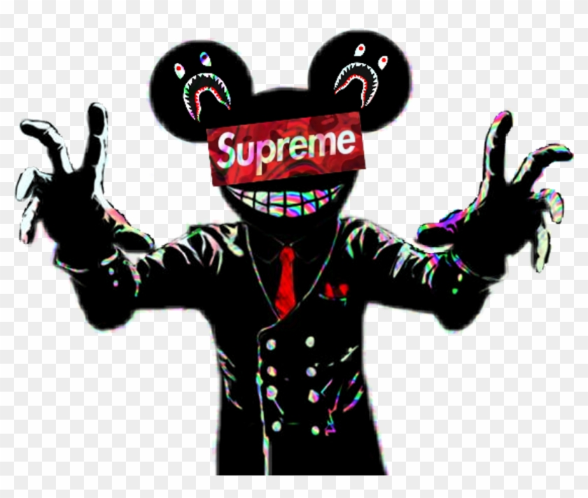 best service d6831 04099  bape  supreme  deadmau5  radioactive - Bape Supreme, HD Png Download