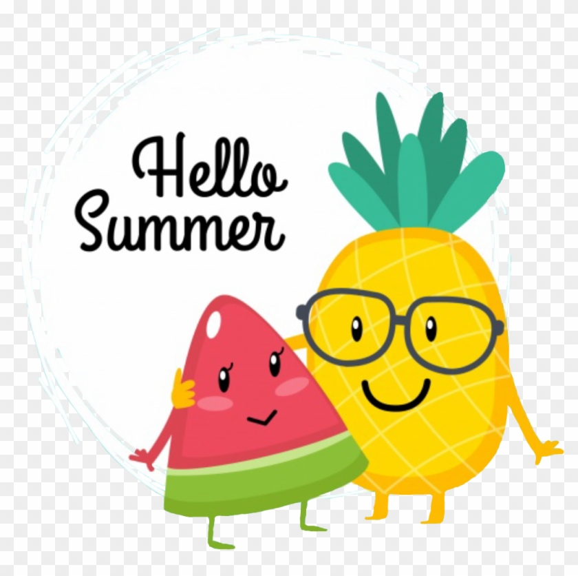 Pineapple summer. Transparent download hello clipart