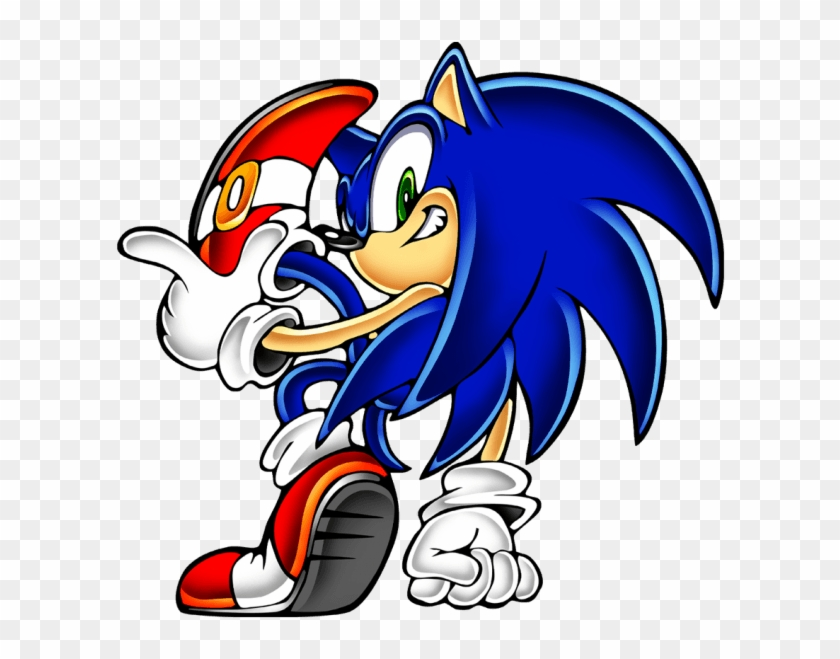 Sonic 6 From The Official Artwork Set For Sonicadventure Sonic Adventure Art Hd Png Download 634x600 2042032 Pngfind