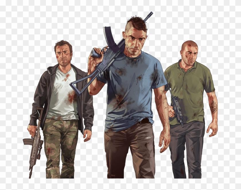 Rockstar Eventsview All - Gta V Characters Png, Transparent