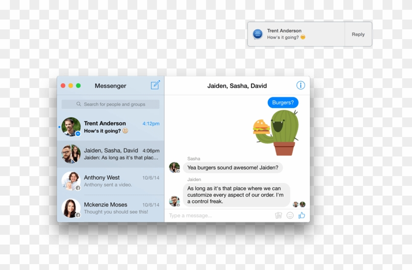 Facebook App For Mac, HD Png Download - 800x500(#2058549) - PngFind