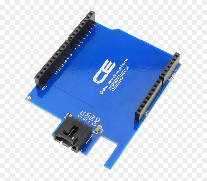 I2c Shield For Arduino Uno - Electronic Component, HD Png Download