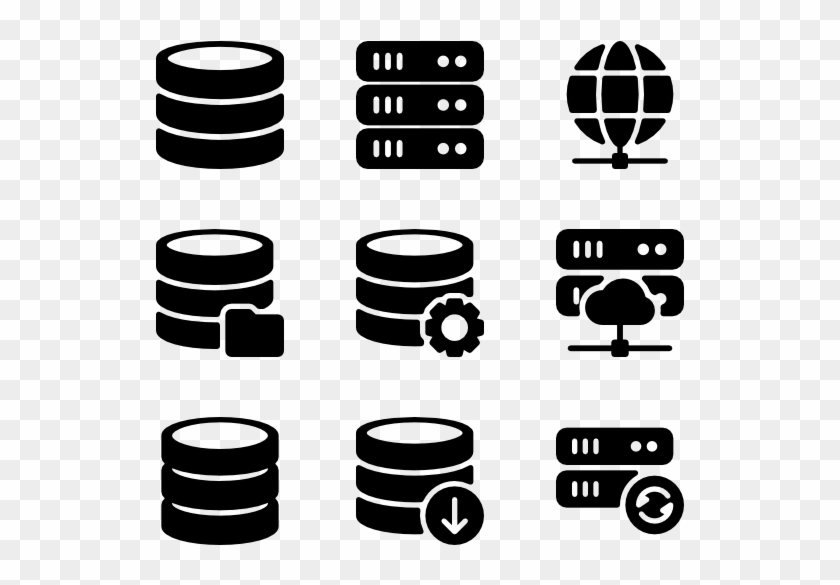 Servers & Database - Server Icon Free, HD Png Download