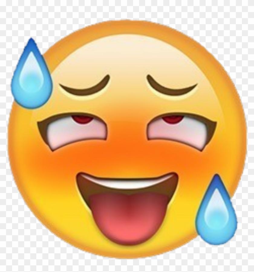 Cringe Sticker - Ahegao Emoji, HD Png Download - 1024x1051