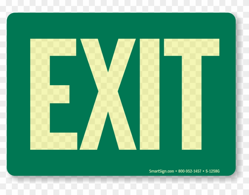 image regarding Printable Exit Signs identify Zoom, Charge, Obtain - No cost Printable Eco-friendly Exit Indication, High definition Png