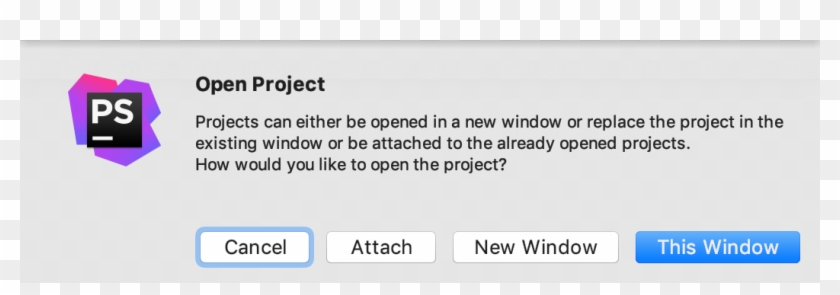 Open The Project In The Current Window, New Window, - Phpstorm, HD