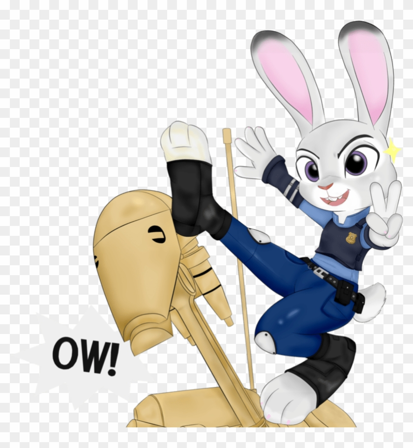 Judy And Her Battle Droid Trainer By Officer Judy Hopps Cute B1 Battle Droid Hd Png Download 955x836 2080158 Pngfind