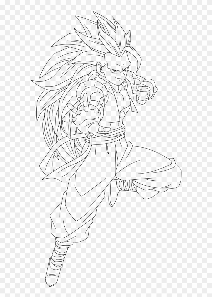 Picture Gallery Of The Dragon Ball Z Gt Coloring Sheets Line Art Hd Png Download 694x1152 2080499 Pngfind