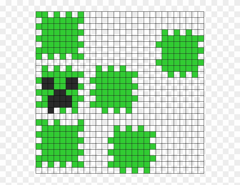 3d Creeper Face Minecraft Perler Bead Pattern Hama Bead Minecraft 3d Hd Png Download 589x568 2081162 Pngfind