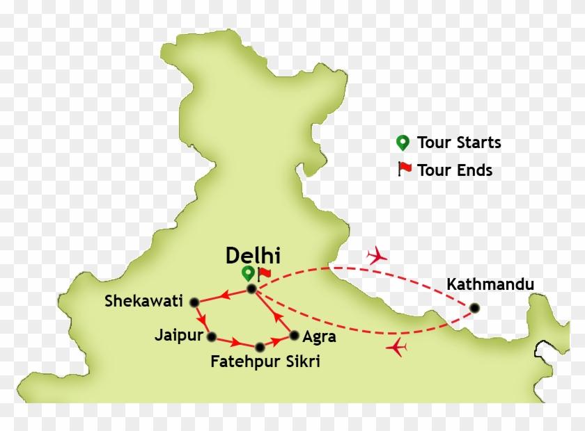 Golden Triangle Haryana Nepal Kerala Holi Udaipur Clipart