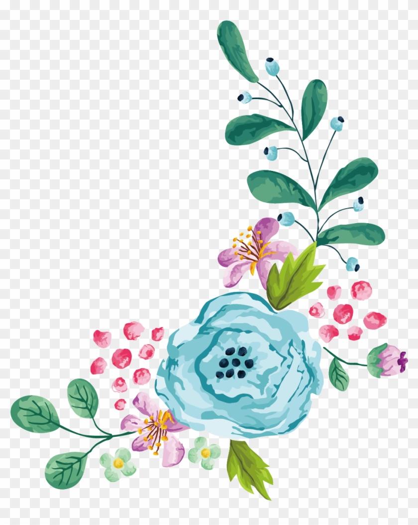 Flower Stock Photography Euclidean Vector Clip Art - Blue