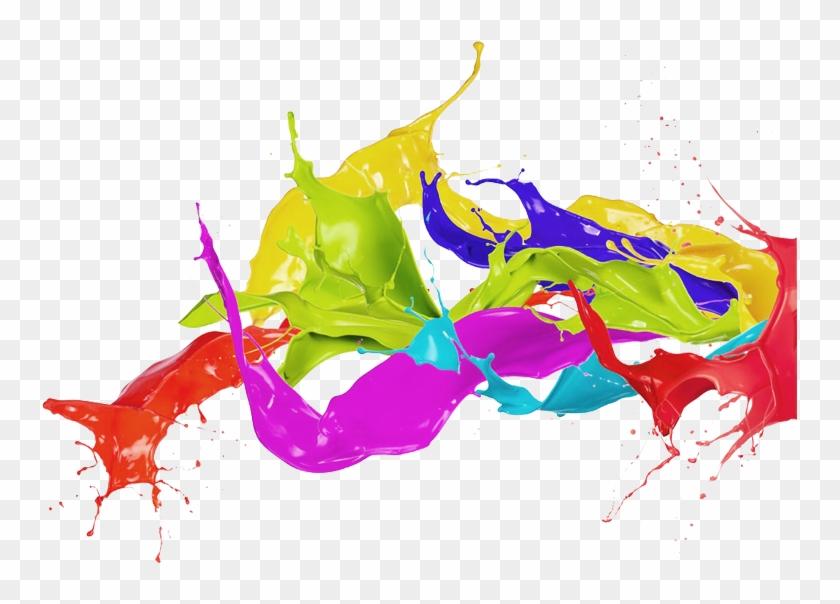 Png Image Information Color Ink Splash Png Transparent Png 755x524 212946 Pngfind
