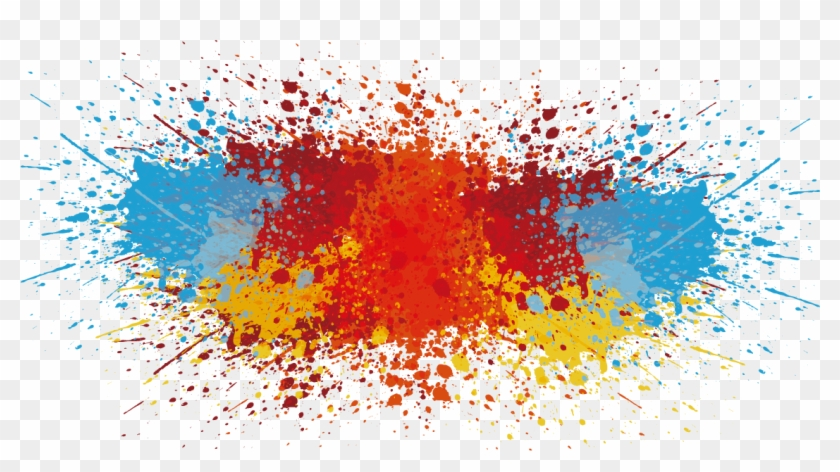 1135 X 584 13 Abstract Color Splash Png Transparent Png