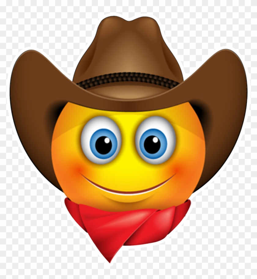 Emoticon Smiley Sunglasses Cowboy Emoji Free Download