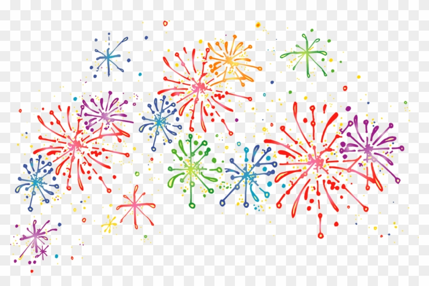 Happy New Year Fireworks Clipart Transparent Background Hd Png Download 768x476 219007 Pngfind