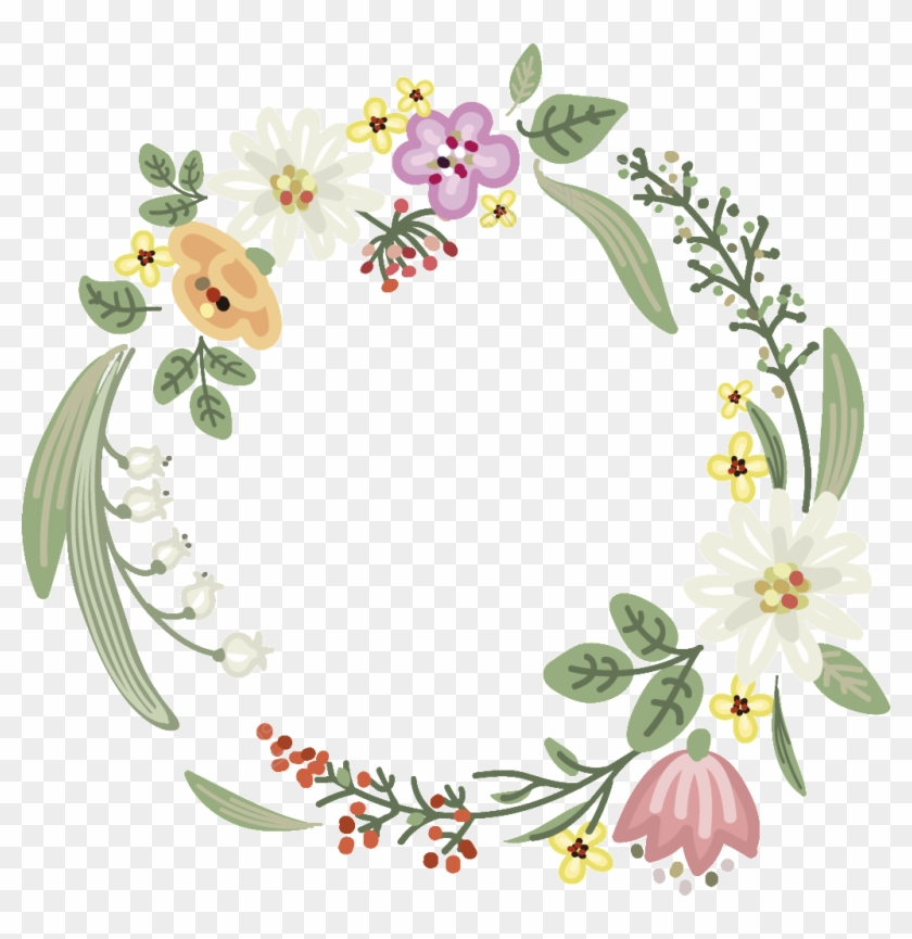 White Flowers Free Download Ai Files , Flower Vector Garland
