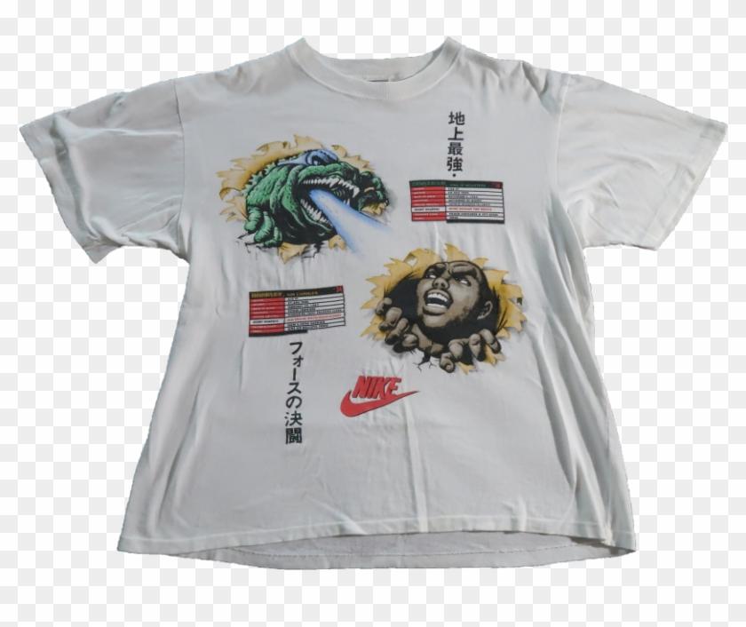 design intemporel b8efa bfab6 Nike Charles Barkley Godzilla T Shirt Medium, HD Png ...