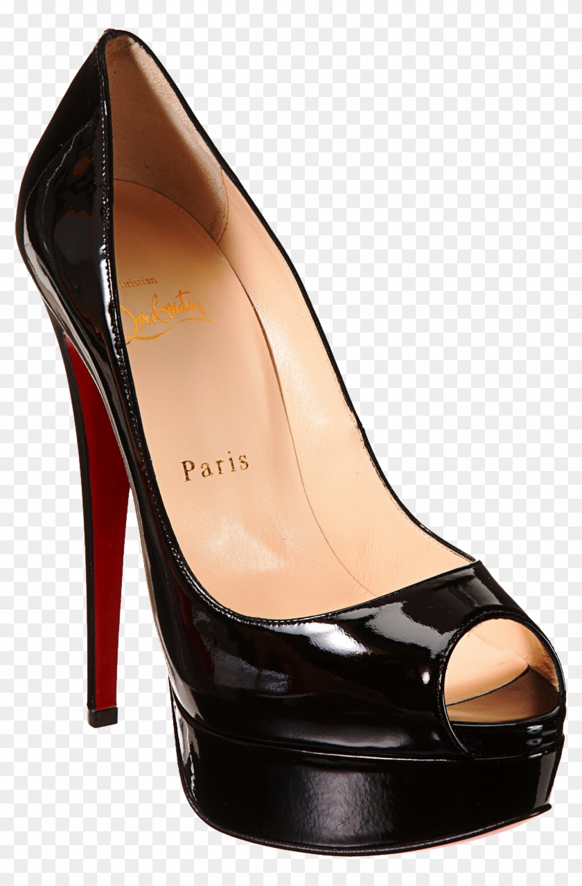 bas prix b77cd d6478 Black Louboutin Women's Pums Png Image Platform High ...