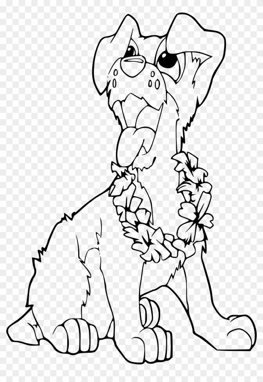 Dog Funny Cute Coloring Book Page Png Transparent Png