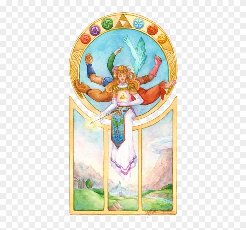 My Art Watercolor Legend Of Zelda Ocarina Of Time Oot