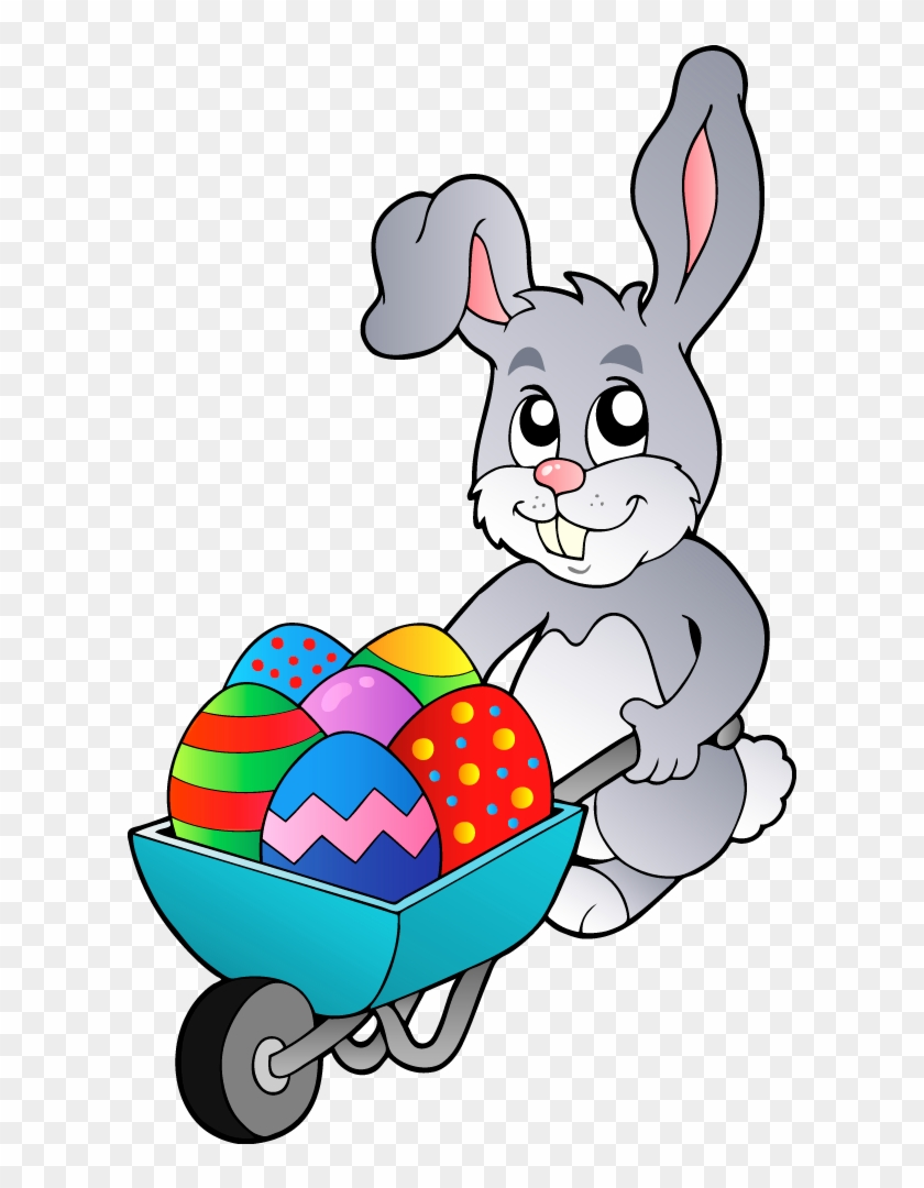 Transparent Easter Bunny With Egg Cart Png Clipart Topo De