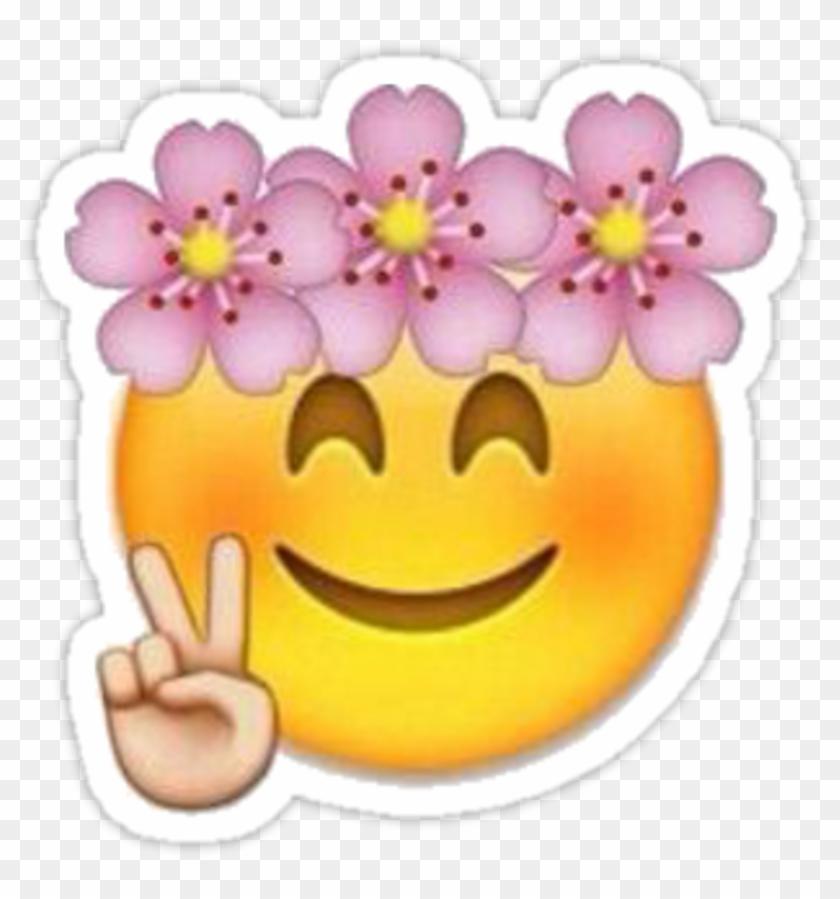 Emoji Corona Diadema Cute Emotions Emoticon Emoji With