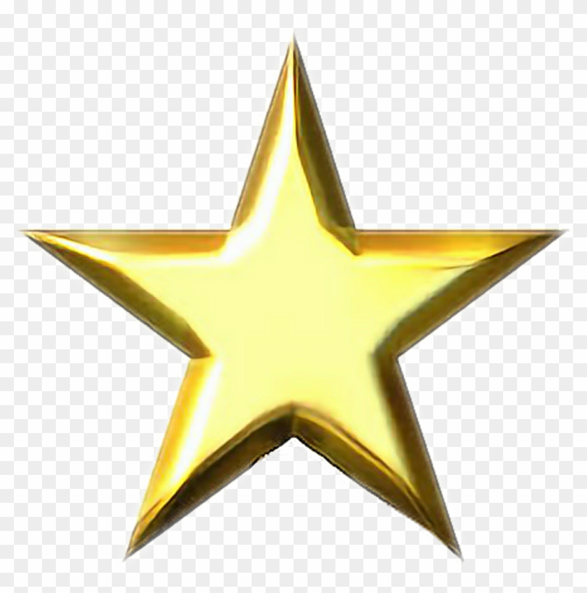 fccefda6ab539 gold #star #stargold #goldstar #shine #yellow #yellowstar, HD Png ...