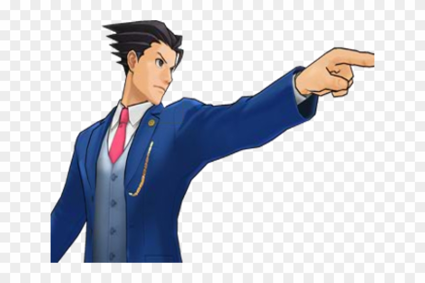 Ace Attorney Clipart Objection Phoenix Wright Point Gif Hd Png