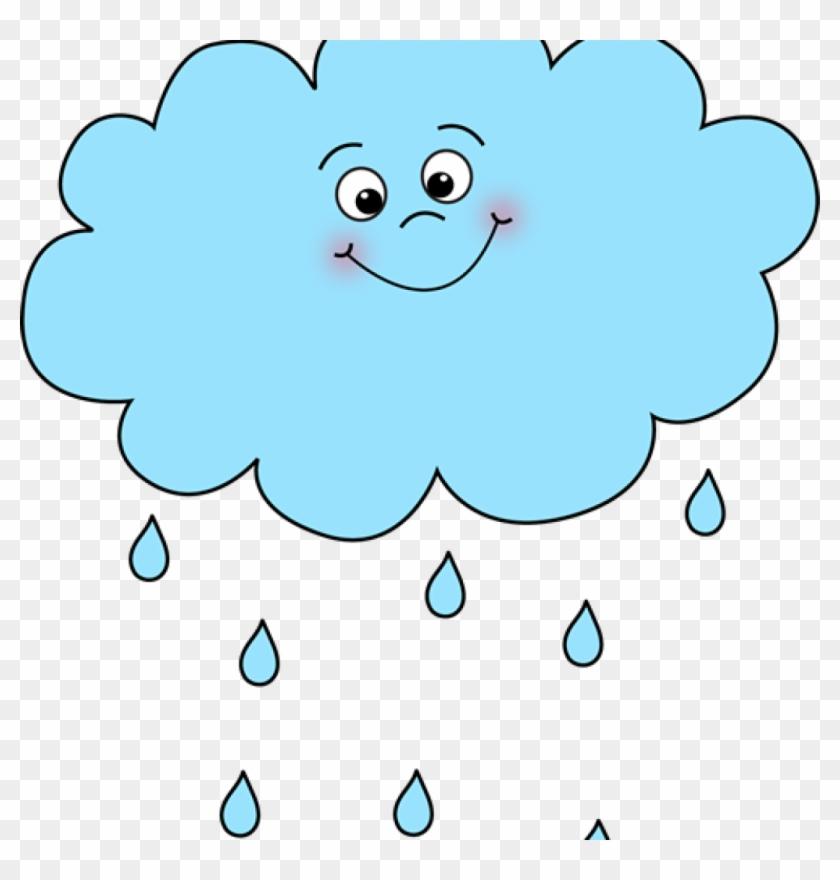 Rain cartoon. Clip art happy cloud