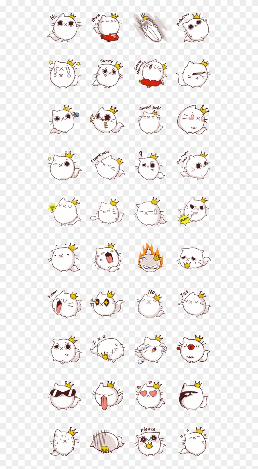 Fab Cat Line Stickers Domz Agsaway So Fabulous Hahaha - Line