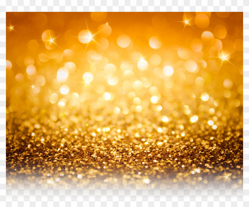Glitter Background Gold - Gold Flash Background, HD Png