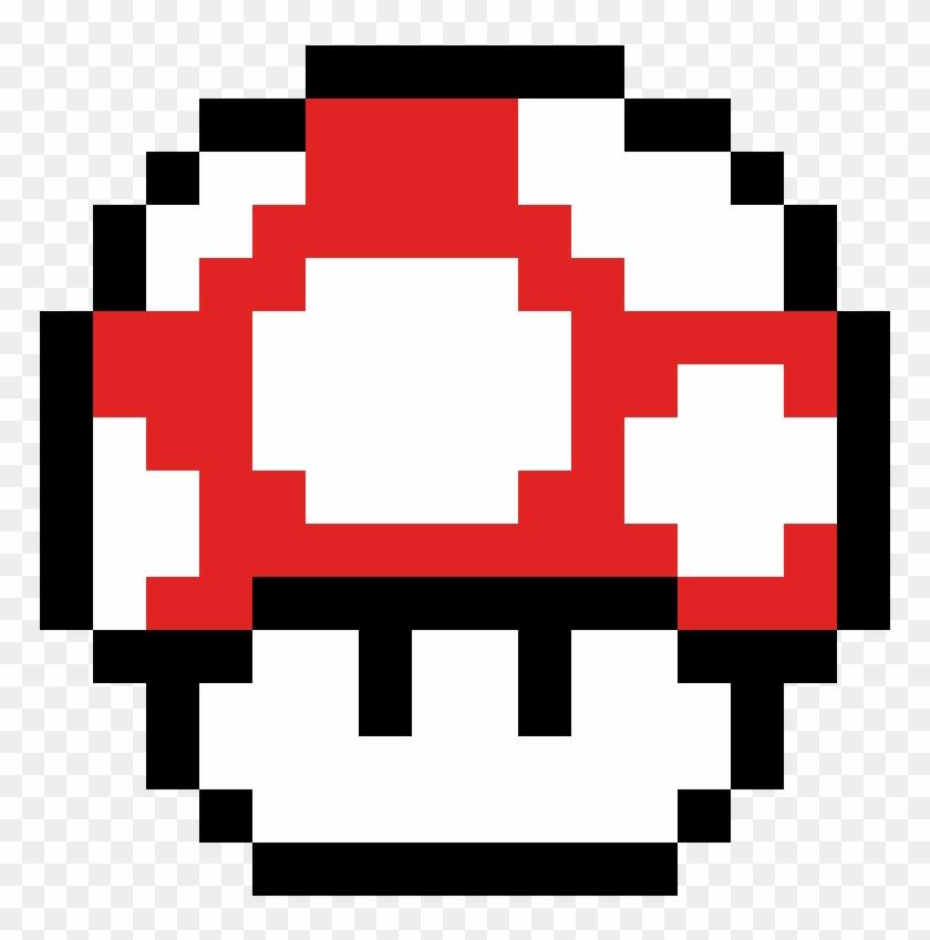 Super Mario Mushroom Toad Mario Pixel Art Hd Png Download