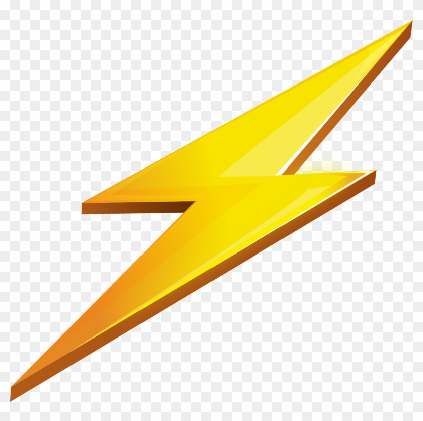 Lightning yellow. Transparent background clipart hd