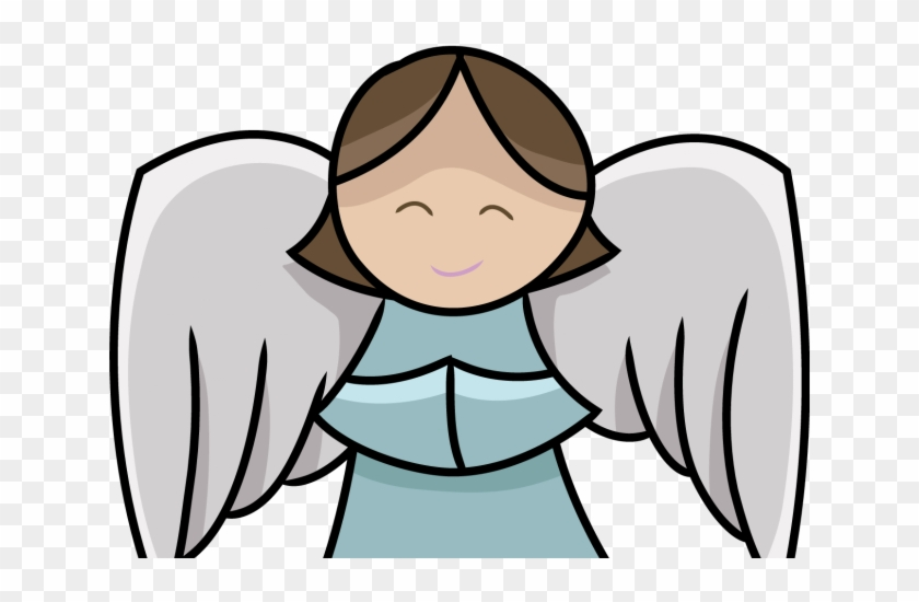 Angel simple. Clipart line art christmas