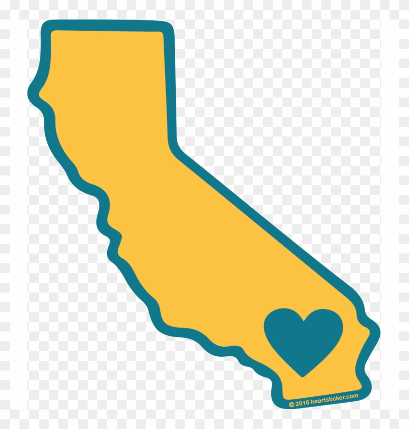 California cali. Flag clipart heart outline