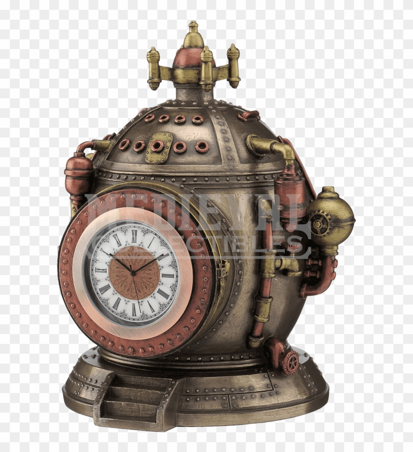 Steampunk Time Machine Trinket Box Clock Steampunk Clock Time Machine Hd Png Download 850x850 2212525 Pngfind