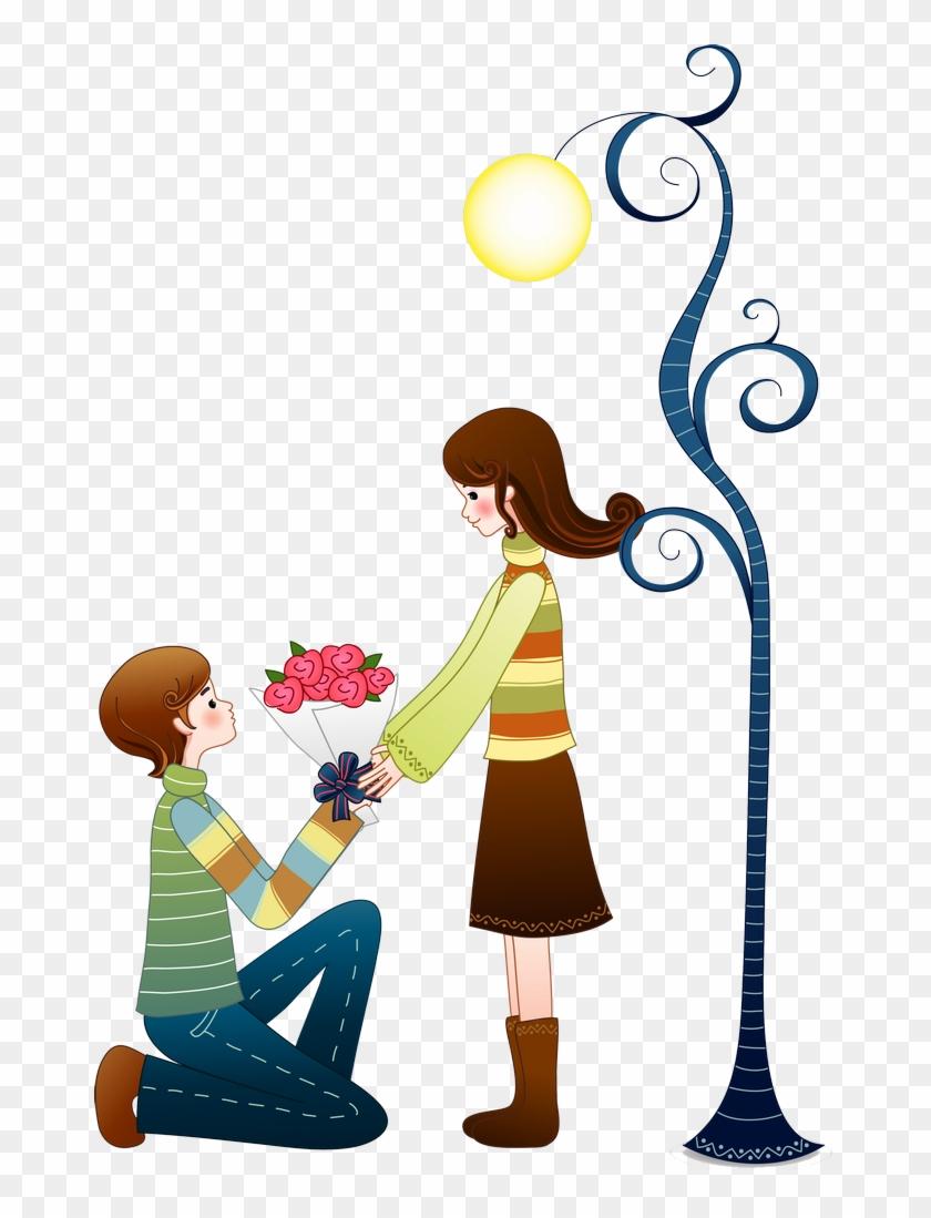 B Love Cartoon Couple Love Couple Cartoons Love Christmas