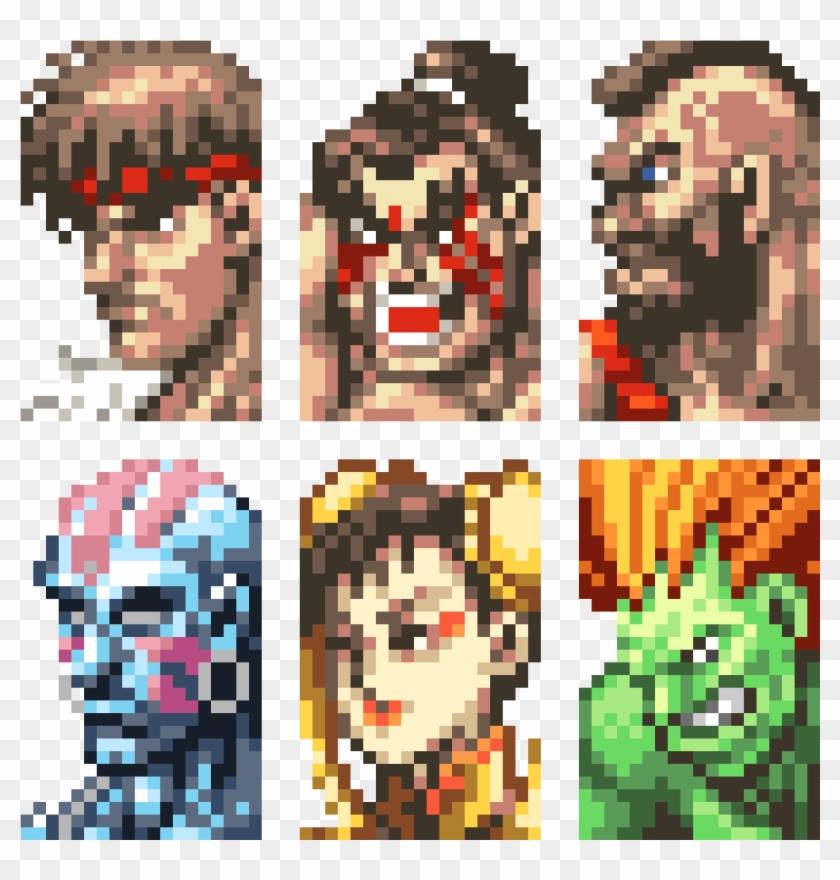 Super Street Fighter - Street Fighter 2 Pixel Art, HD Png