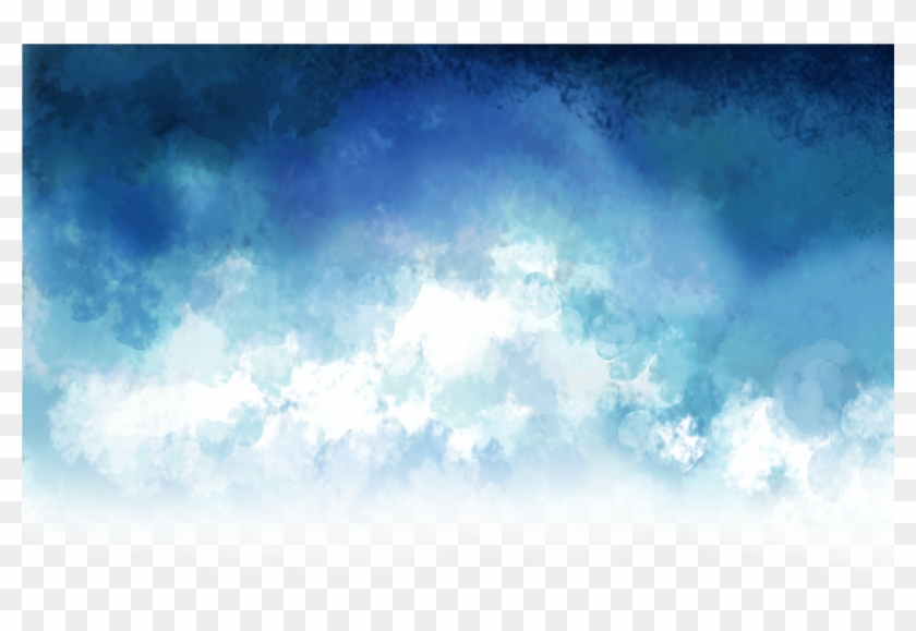 blue #cloud #smoke #overlay - Vector Azul Cielo, HD Png Download