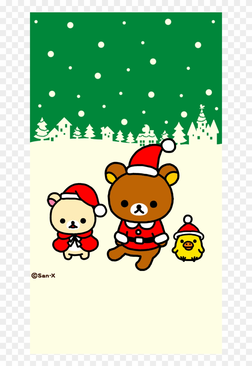 christmas wallpaper cute rilakkuma hd png download 744x1392 2262540 pngfind christmas wallpaper cute rilakkuma